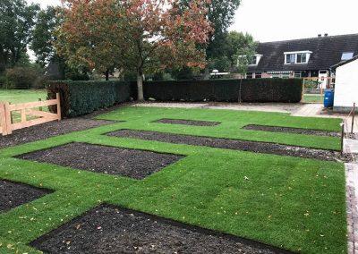 Afgeleverde tuin klaar voor beplanting