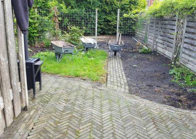 Tuin in Sneek voor renovatie