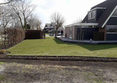 Tuin klaar voor beplanting