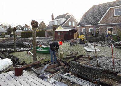 Tuin tijdens renovatie